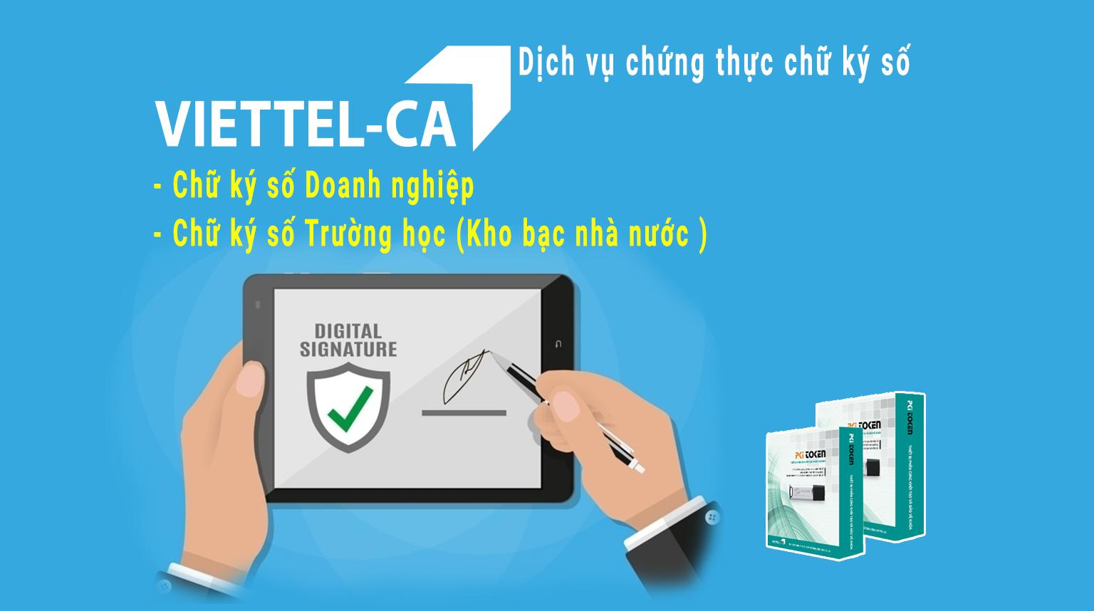 chữ ký số CA Viettel